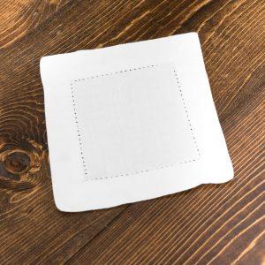 white-hemstitch-cocktail-napkin